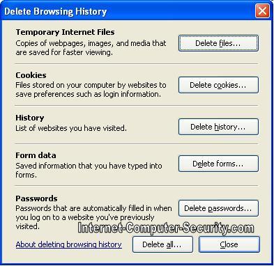 configuring Internet Explorer Security in XP